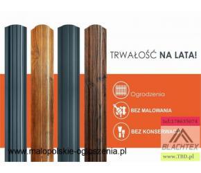 Sztachety stalowe I i II gatunek, duży wybór wzorów i kolorów! Atrakcyjne ceny!